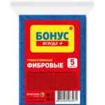 Губки кухонные Бонус фибровые 5 шт (4823071632163)