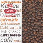 Салфетки столовые Eventa Fashion трехслойные Гастрономия Кофейные зерна 33х33 см 20 шт (34198000_4037698999992)