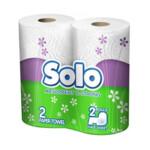 Бумажные полотенца Solo 2 слоя 100 отрывов 2 рулона (8690530005198)