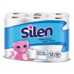 Туалетная бумага Silen двухслойная белая 12 рулонов (8690530596344)