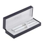 Комплект ручек Regal (перьевая+роллер) в подарочном футляре L, белый  (R82407.L.RF)