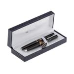 Комплект ручек Regal (перьевая+шариковая) в подарочном футляре L, черный  (R82718.L.BF)
