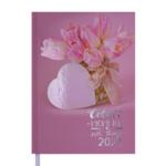 Ежедневник датированный Buromax Romantic A5 336 с. Светло-розовый (BM.2170-43)
