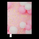 Ежедневник датированный 2022 Buromax ONLYА5 розовый 336 с (BM.2183-10)