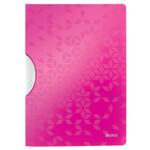 Папка с клипом Leitz WOW ColorClip A4 розовый металлик (4185-00-23)