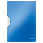Папка с клипом Leitz WOW ColorClip A4 синий металлик (4185-00-36)