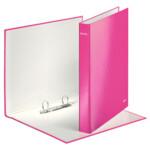 Папка-регистратор Leitz WOW, 2 кольца, 25мм, А4+ розовый металлик (4241-00-23)