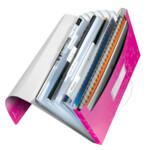 Папка с отделениями Leitz WOW A4 розовый металлик (4589-00-23)