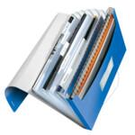 Папка с отделениями Leitz WOW A4 синий металлик (4589-00-36)