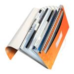 Папка с отделениями Leitz WOW A4 цвет оранжевый металлик (4589-00-44)