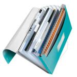 Папка с отделениями Leitz WOW A4 бирюзовый металлик (4589-00-51)