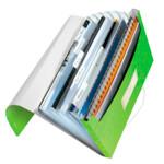 Папка с отделениями Leitz WOW A4 зеленый металлик (4589-00-54)