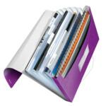 Папка с отделениями Leitz WOW A4 фиолетовый металлик (4589-00-62)