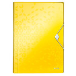 Папка-бокс на резинке Leitz WOW A4 желтый металлик (4599-00-16)
