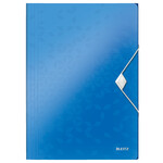 Папка-бокс на резинке Leitz WOW A4 синий металлик (4599-00-36)