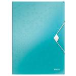 Папка-бокс на резинке Leitz WOW A4 бирюзовый металлик (4599-00-51)