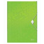 Папка-бокс на резинке Leitz WOW A4 зеленый металлик (4599-00-54)