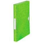 Папка-бокс на резинке Leitz WOW, A4 PP на 250 листов, зеленый металлик (4629-00-54)