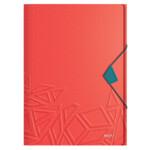 Папка-бокс на резинке Leitz UrbanChic A4 PP, 150 листов, красная (4649-00-24)