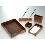 Набор настольный деревянный Bestar, 5 предметов, орех (5144FDX)