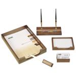 Набор настольный деревянный Bestar, 5 предметов, орех (5159XDX)