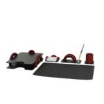 Набор настольный Bestar Arch 5 предметов из красного дерева (5257FDU)