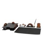 Набор настольный деревянный Bestar, 5 предметов, орех (5257FDX)