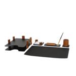 Набор настольный деревянный Bestar, 5 предметов, орех (5269FDX)
