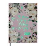 Ежедневник датированный 2021 Buromax Fattore А5 336 с. Розовый (BM.2139-10)