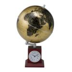 Глобус Bestar Gold 200х200х325 мм на деревянной подставке с часами (3385XJU)