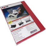 Обложки картонные Agent, под кожу, красные, А4, 230 г/м2, 100 шт (1521167)