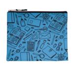 Папка для тетрадей тканевая на молнии ZiBi Школа А5 24,5x20x1 см Голубая (ZB.703514-14)