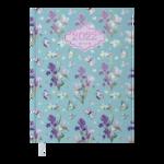 Ежедневник датированный 2022 Buromax BLOSSOM А5 голубой 336 с (BM.2136-14)