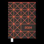 Ежедневник датированный 2022 Buromax LINEAА5 оранжевый 336 с (BM.2151-11)