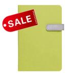 Блокнот 11,5х16,5 блок: чистий лист LAUR, зеленый (692186)