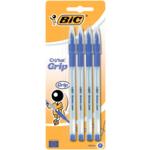 Ручка Bic Cristal Grip синяя 0.4 мм 4шт в блистере (bc802798)