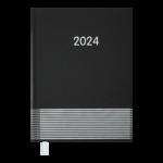 Ежедневник датированный 2022 Buromax PARALLEL А5 черный 336 с (BM.2107-01)