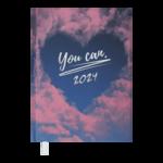 Ежедневник датированный 2022 Buromax POSH А5 розовый 336 с (BM.2118-10)