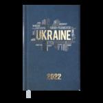 Еженедельник датированный 2022 Buromax UKRAINE карманный синий 128 с (BM.2881-02)