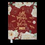 Ежедневник датированный 2022 Buromax FATTORE А5 красный  336 с (BM.2139-05)