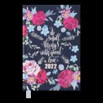 Ежедневник датированный 2022 Buromax FATTORE А6 синий  336 с (BM.2534-02)