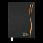 Ежедневник датированный 2022 Buromax WAVE А5 оранжевый 336 с (BM.2147-11)
