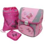 Школьный набор Butterfly Рюкзак каркасный + пенал плоский + сумка для обуви (PREMIUM-B)