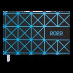 Еженедельник датированный 2022 Buromax LINEA карманный синий 128 с (BM.2757-02)