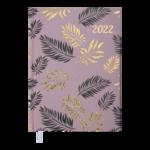 Ежедневник датированный 2022 Buromax LEAF А5 какао 336 с (BM.2157-40)