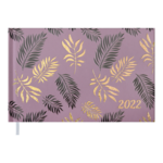 Еженедельник датированный 2022 Buromax LEAF карманный какао 128 с (BM.2764-40)