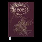 Ежедневник датированный 2022 Buromax RICH А5 бордовый 336 с (BM.2158-13)