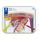 Карандаши цветные гексагональные в металлическом футляре (72шт/упак) (ST.175 M72)