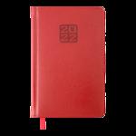 Еженедельник датированный 2022 Buromax BRAVO A5 красный L2U 136 с (BM.2706-05)