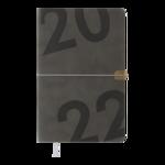 Еженедельник датированный 2022 Buromax BEST A5 серый 136 с (BM.2704-09)